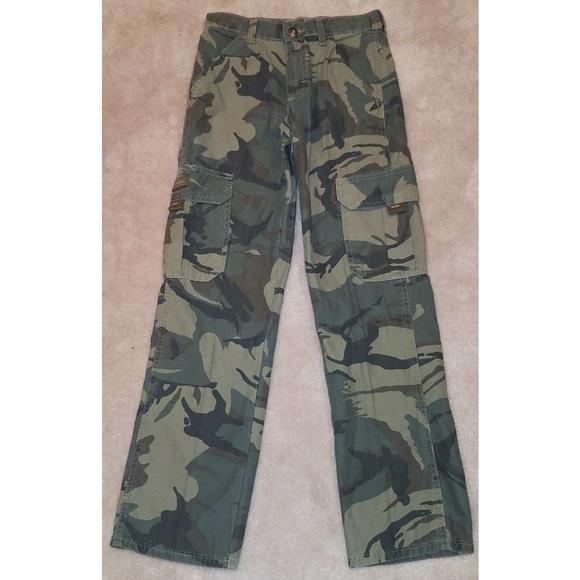 416685a4 Wrangler Bottoms | Nwt Camouflage Twill Cargo Pants Youth | Poshmark
